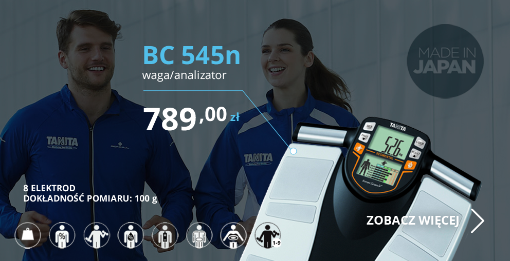 Najdokładniejszy          na świecie, bezprzewodowy (bluetooth 4.0), domowy analizator składu ciała - TANITA RD-901