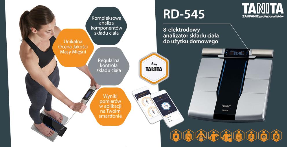 RD-545, 8-elektrodowy analizator skladu ciala do uzytku domowego